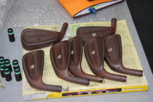 Irons with the antique finish, designed to look aged